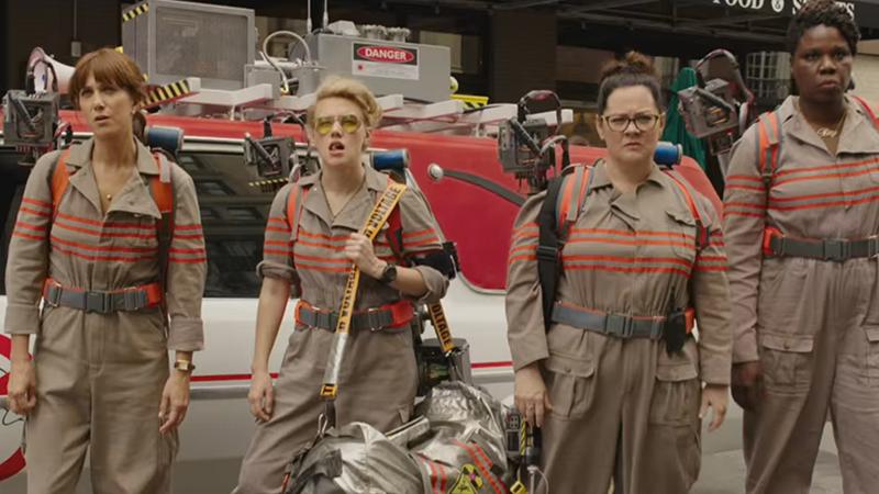 new ghostbusters trailer Erin Gilbert Kristen Wiig Abby Yates Melissa McCarthy Kate McKinnon holtzmann patty outfit costume team