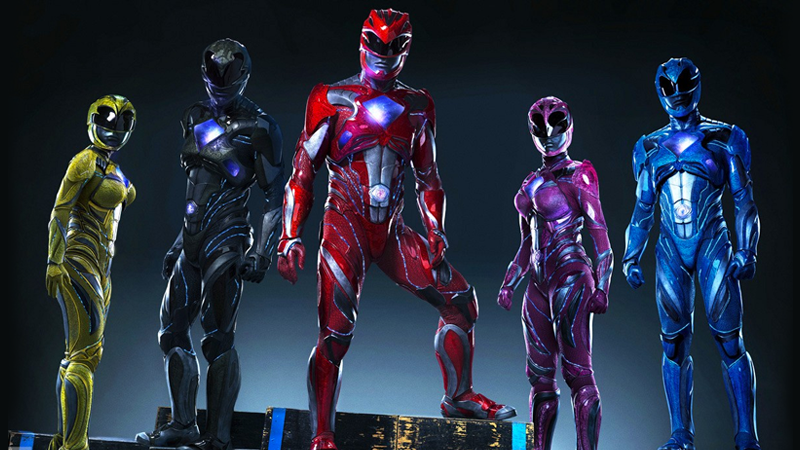New Power Rangers Logo and Costumes suits